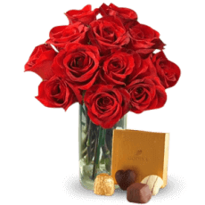 Love, roses and Chocolates in Gracias a Dios (Thanks to God)
