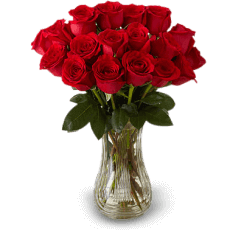 18 Red roses in Armed Forces Pacific