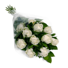 White Roses Bouquet 在 Espírito Santo (埃斯)