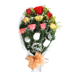 Assorted Roses Bouquet in Santo Domingo
