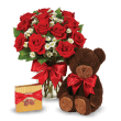 Red roses, chocolates and hugs from a Teddy Bear 在 波多黎各