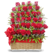 Red Roses in a Basket in Puerto Rico