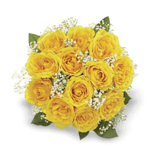 Bouquet of yellow roses in Huehuetenango