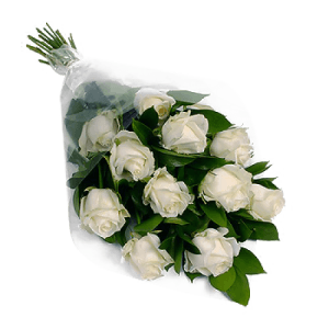 White Roses Bouquet in Acre