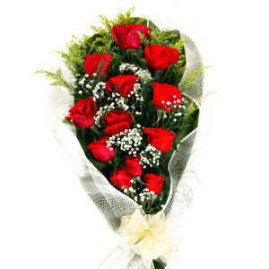 Bouquet of red roses in Dajabón