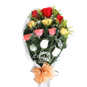 Assorted Roses Bouquet in Bonao (Monseñor Nouel)