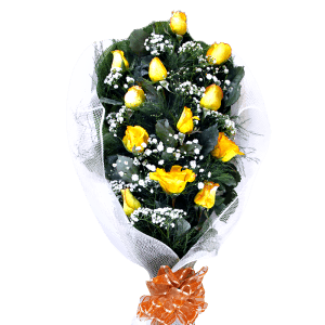 Bouquet of yellow roses in Dajabón