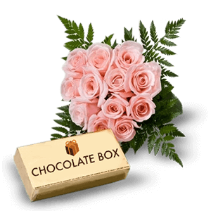 Pink Roses and Chocolates in Azua